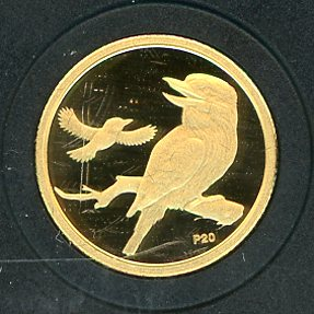 Thumbnail for 2009 Australian One Twentieth oz Gold Proof Kookaburra - 2004 Design