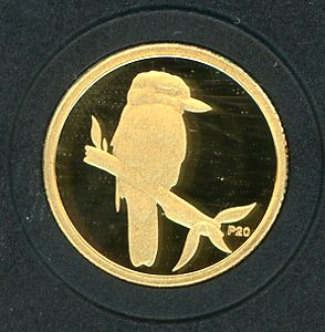 Thumbnail for 2009 Australian One Twentieth oz Gold Proof Kookaburra - 2005 Design