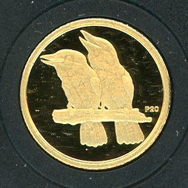 Thumbnail for 2009 Australian One Twentieth oz Gold Proof Kookaburra - 2006 Design