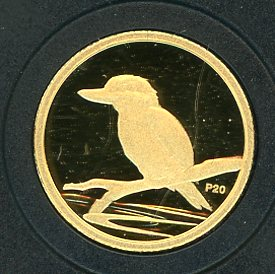 Thumbnail for 2009 Australian One Twentieth oz Gold Proof Kookaburra - 2007 Design