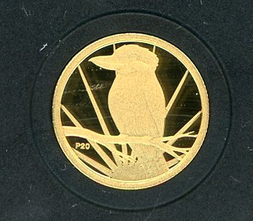 Thumbnail for 2009 Australian One Twentieth oz Gold Proof Kookaburra - 2009 Design