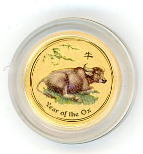 Thumbnail for 2009 Australian One Twentieth oz Coloured - Year of the Ox