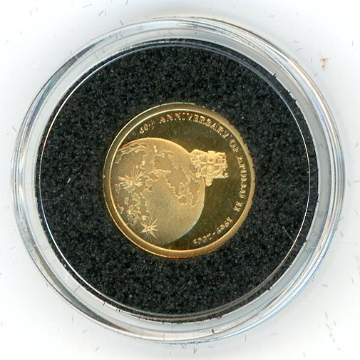Thumbnail for 2009 Cook Islands 1.224 Grams .999 Ten Dollars - Apollo 11