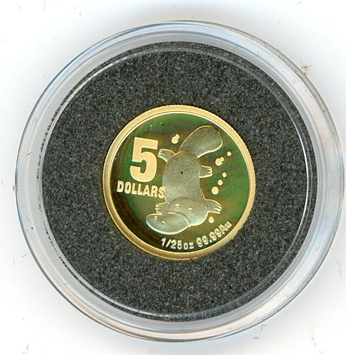 Thumbnail for 2009 One Twentififth oz Little Dinkums - Platypus Proof in Capsule
