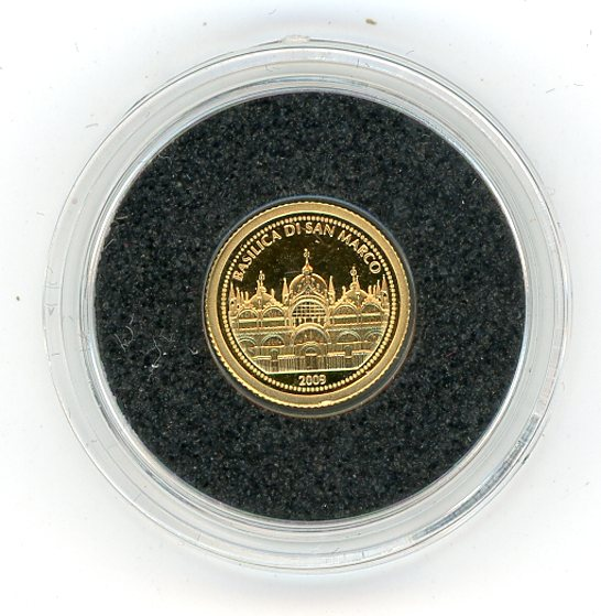 Thumbnail for 2009 Samoa 0.5 Gram .999 Gold One Dollar - Saint Mark's Basilica