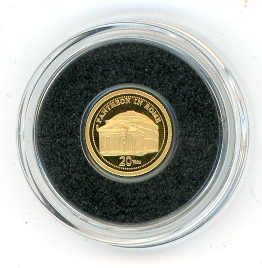 Thumbnail for 2009 Vanuatu 0.5 Gram .999 20 Vatu - Pantheon of Rome