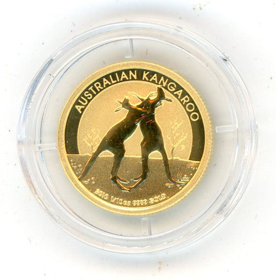 Thumbnail for 2010 One Tenth oz Kangaroo & Certificate