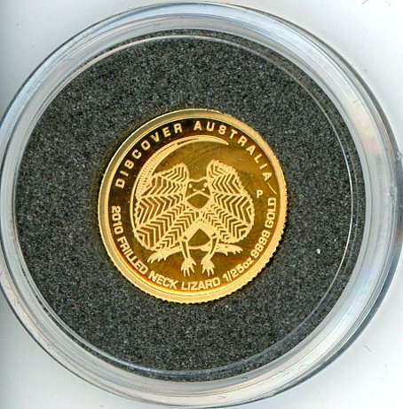 Thumbnail for 2010 One Twentififth oz Discover Australia - Frilled Neck Lizard Proof in Capsule
