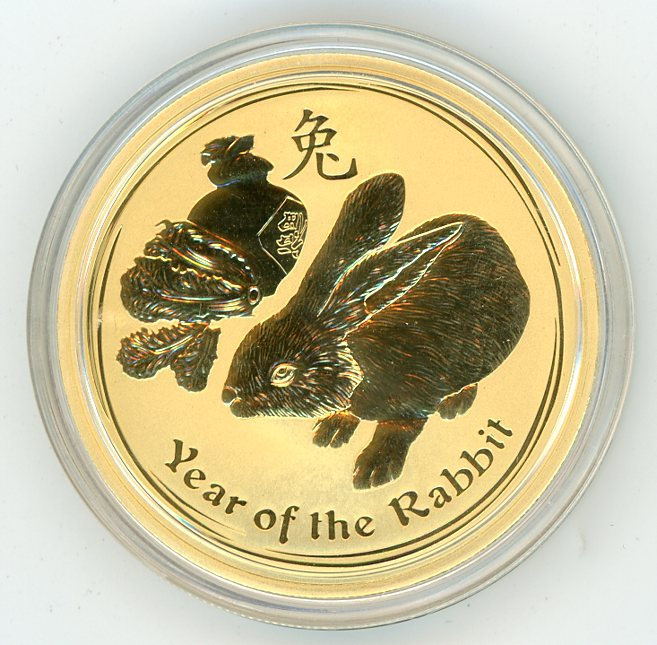 Thumbnail for 2011 Australian 1oz Gold - Year of the Rabbit