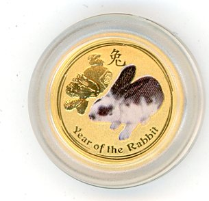 Thumbnail for 2011 Australian One Twentieth oz Coloured - Year of the Rabbit