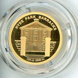 Thumbnail for 2011 One Twentififth oz Australian Convict Heritage In Capsule - Hyde Park Barracks