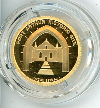 Thumbnail for 2011 Australian One Twentififth oz Gold Proof in Capsule - Port Arthur Historic Site