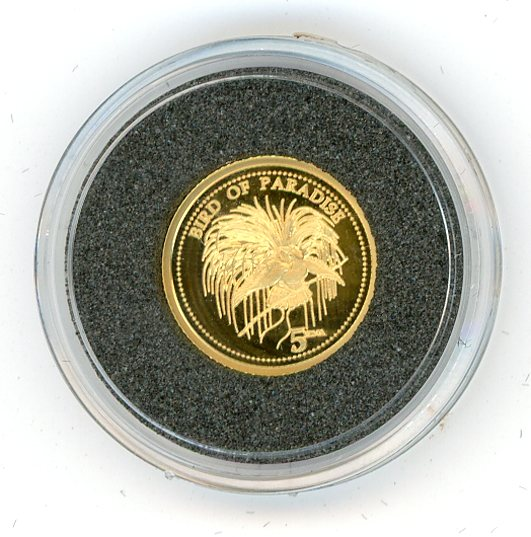 Thumbnail for 2011 Papua New Guinea One Twentififth oz .999 Five Kina - Bird of Paradise