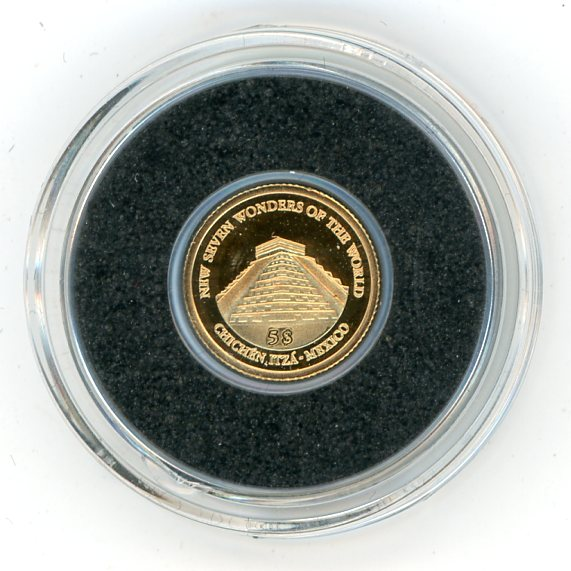 Thumbnail for 2011 Soloman Islands 0.5 Gram .585 Gold Five Dollars - Chichen Itza Mexico