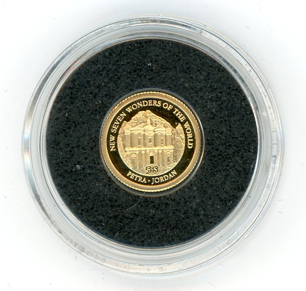 Thumbnail for 2011 Soloman Islands 0.5 Gram .585 Gold Five Dollars - Petra Jordan