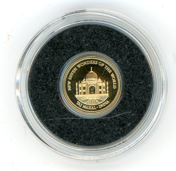 Thumbnail for 2011 Soloman Islands 0.5 Gram .585 Gold Five Dollars - Taj Mahal India