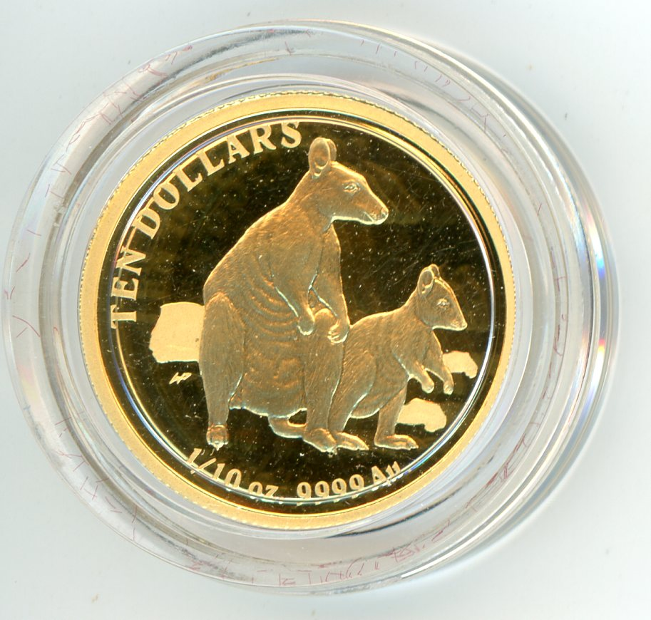 Thumbnail for 2011 One Tenth oz Proof Gold Wallabies in Capsule
