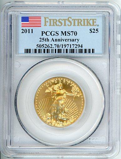 Thumbnail for 2011 USA Half oz Eagle Slabbed PCGS MS70 First Strike