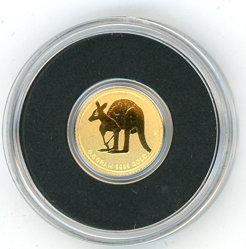 Thumbnail for 2011 0.5 gram $2 Gold Kangaroo In Capsule
