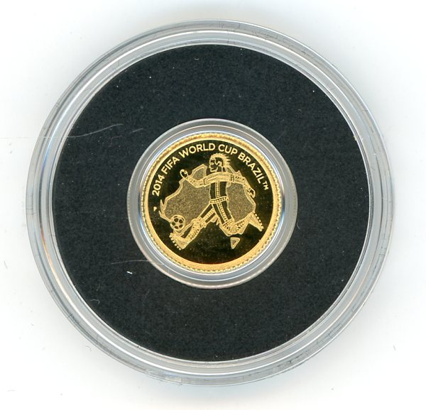 Thumbnail for 2012 Australia 0.5 Gram .999 Gold Two Dollars - FIFA World Cup
