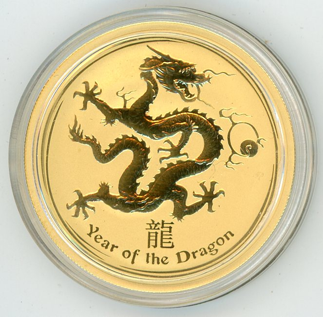 Thumbnail for 2012 Australian 1oz Gold - Year of the Dragon