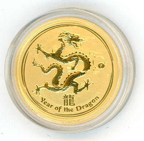 Thumbnail for 2012 One Tenth oz Year of the Dragon in Capsule
