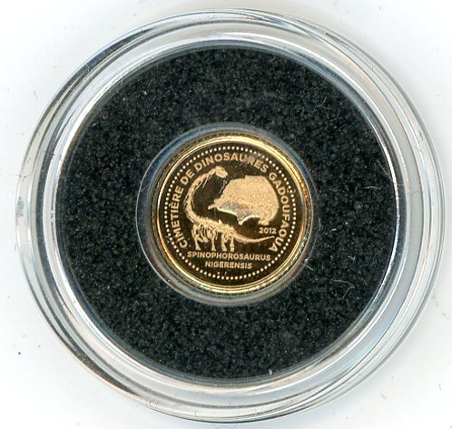 Thumbnail for 2012 Republic of Niger 0.5 Gram .585 Gold 1500 Francs - Dinasaur Cemetery