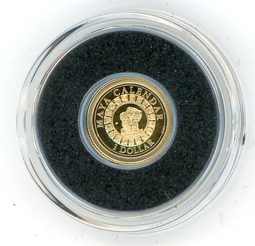 Thumbnail for 2012 Solomon Islands 0.5 Gram .585 Gold One Dollar - Maya Calendar