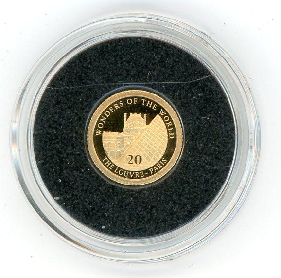 Thumbnail for 2012 Vanuatu 0.5 Gram .585 Gold 20 Vatu - Louvre Paris