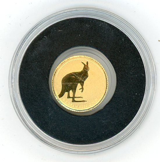 Thumbnail for 2013 Australia 0.5 Gram .999 Gold Two Dollars - Kangaroo