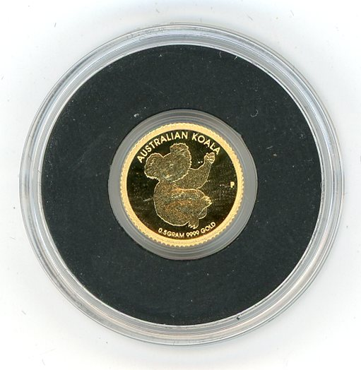 Thumbnail for 2013 Australia 0.5 Gram .999 Gold Two Dollars - Koala