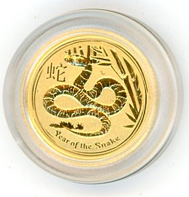 Thumbnail for 2013 Australian One Twentieth oz Gold - Year of the Snake