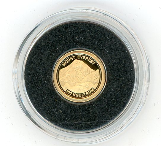 Thumbnail for 2013 Bhutan 0.5 Gram .585 Gold 100 Ngultrum - Mount Everest