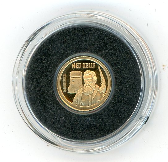 Thumbnail for 2013 Cook Islands 0.5 Gram .585 Gold Five Dollars - Ned Kelly