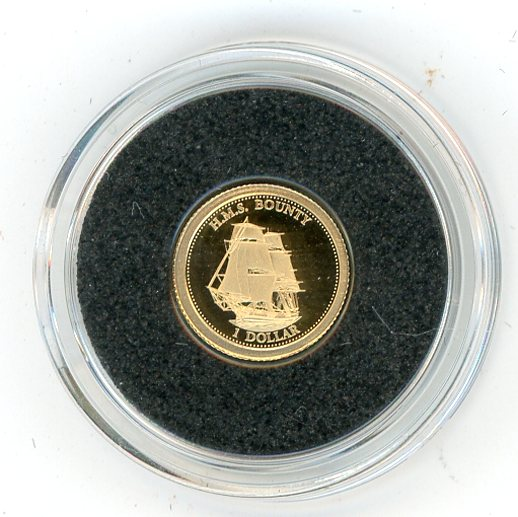 Thumbnail for 2013 Fiji 0.5 Gram .585 Gold One dollar - Mutiny of HMS Bounty