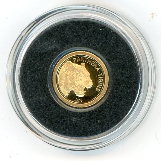 Thumbnail for 2013 Laos 0.5 Gram .585 Gold 500 KIP - Tiger