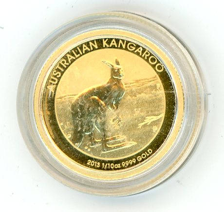 Thumbnail for 2013 One Tenth oz Australian Kangaroo