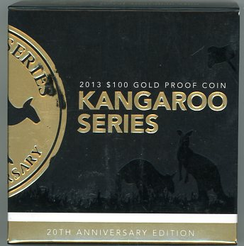 Thumbnail for 2013 1oz 20th Anniversary Edition Proof with Certificate