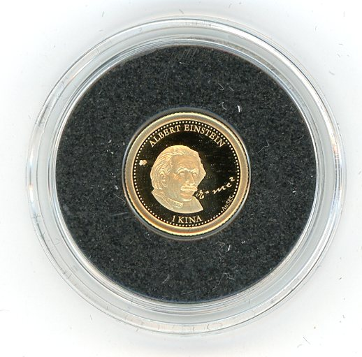 Thumbnail for 2013 Papua New Guinea 0.5 Gram  .585 Gold One Kina - Albert Einstein