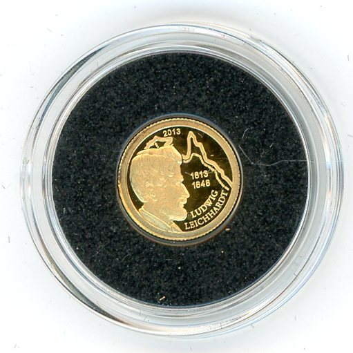 Thumbnail for 2013 Palau 0.5 Gram .585 One Dollar - Ludwig The Exploration of Australia