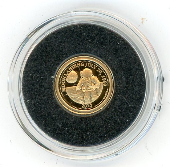 Thumbnail for 2013 Samoa 0.5 Gram .585 Gold One dollar - First Moon Landing