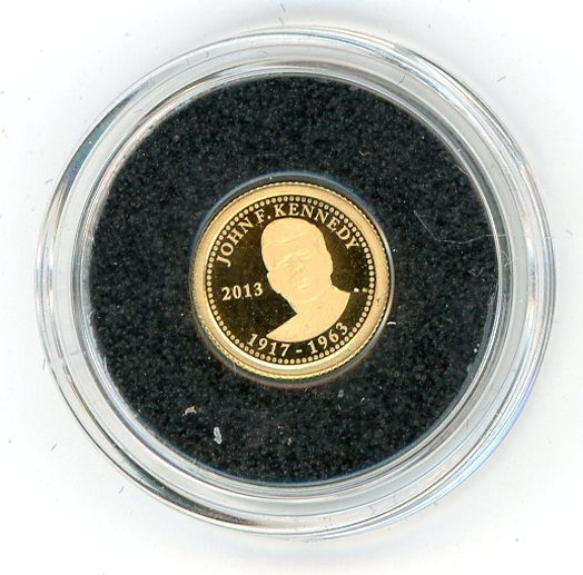 Thumbnail for 2013 Samoa 0.5 Gram .999 One Dollar - John F. Kennedy