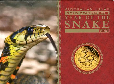 Thumbnail for 2013 One Tenth oz Gold Proof Coin - Year of the Snake