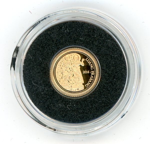 Thumbnail for 2014 Laos 0.5 Gram  .585 Gold 500 Kip - Luang Prabang