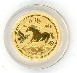 Thumbnail for 2014 Australian One Twentieth oz Gold - Year of the Horse