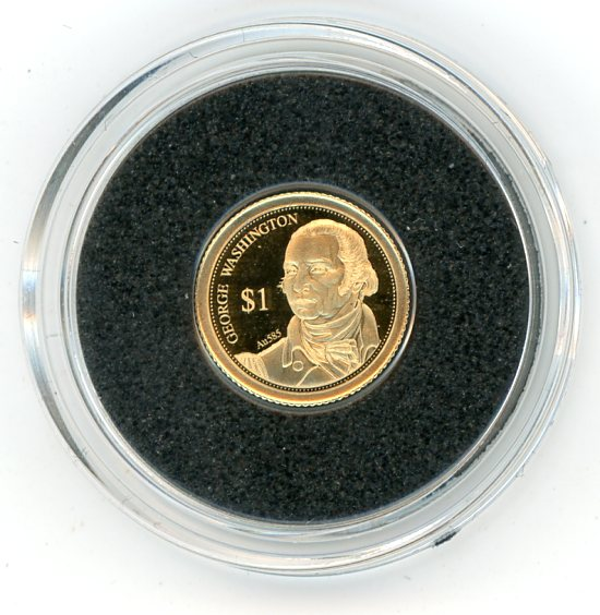 Thumbnail for 2014 Fiji 0.5 Gram  .585 Gold One Dollar - George Washington