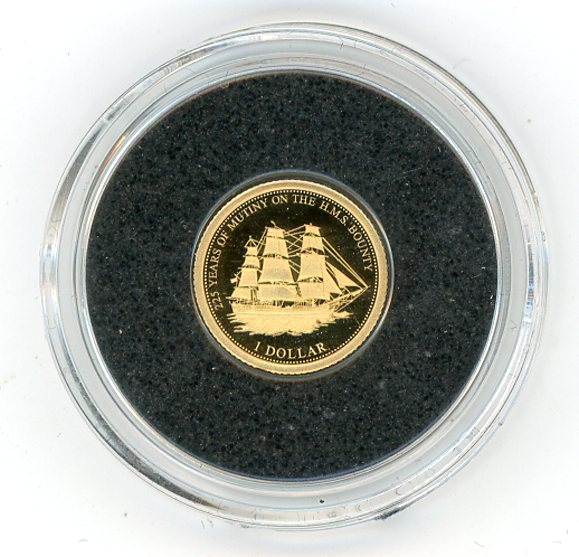Thumbnail for 2014 Fiji 0.5 Gram  .585 Gold One Dollar - The HMS Bounty 225 Years Anniversary