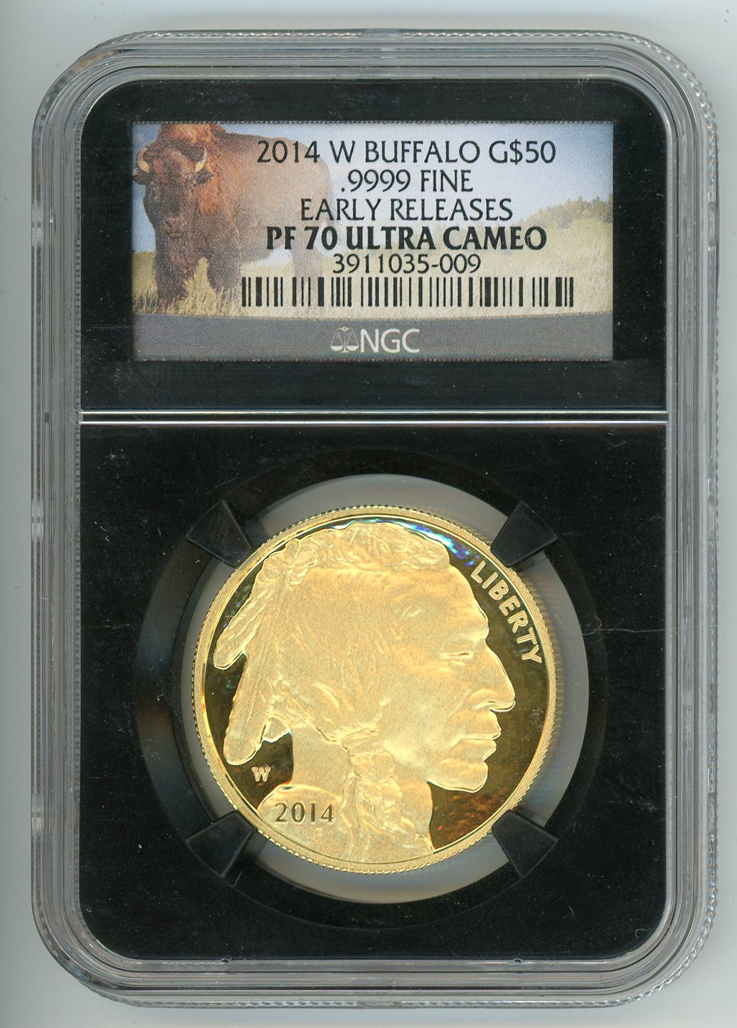 Thumbnail for 2014 1oz Buffalo Early Release Slabbed NGC PF70 Ultra Cameo