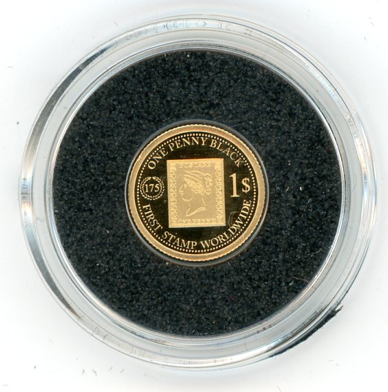 Thumbnail for 2014 Fiji 0.5 Gram  .585 Gold One Dollar - One Penny Black