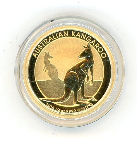 Thumbnail for 2016 One Quarter oz Gold Kangaroo